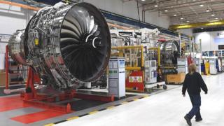 Worker at Rolls-Royce factory