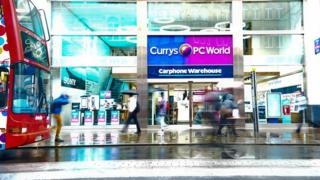 Currys PC World and Carphone Warehouse store