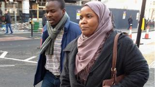Dr Hadiza Bawa-Garba (front) arrives at Leicester Magistrates Court, Leicester