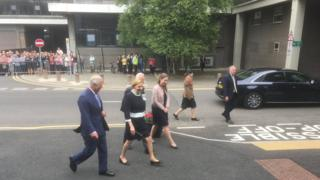 Prince Charles arriving at Ulster University.
