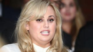 Rebel Wilson speaking to the press after winning her defamation case in June 2017