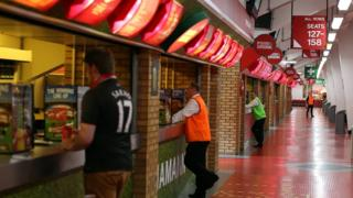 Concourse at Liverpool FC