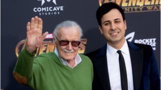 Stan Lee and Keya Morgan attend the 'Avengers: Infinity War' World Premiere on April 23, 2018 in Los Angeles, California.