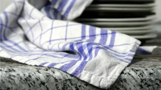 Kitchen towel on a counter