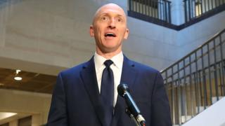 Carter Page speaks after testifying to a US House of Representatives committee