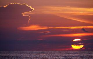 Sunset over the Java Sea