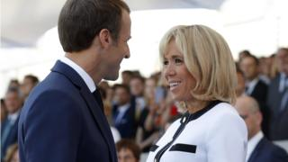 President Emmanuel Macron and his wife Brigitte were there.