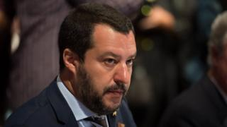 Italian Interior Minister Matteo Salvini attends the informal meeting of justice and home affairs ministers at the Congress in Innsbruck, Austria, 12 July 2018