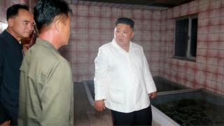Kim Jong-un inspecting Onpho Holiday Camp in North Hamgyong Province
