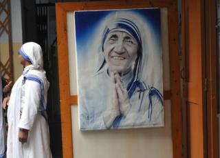 Representational image of a nun at the Missionaries of Charity
