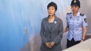 Park Geun-hye in custody in Seoul, 25 August 2017