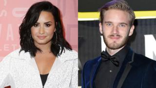 Demi Lovato and Pewdiepie
