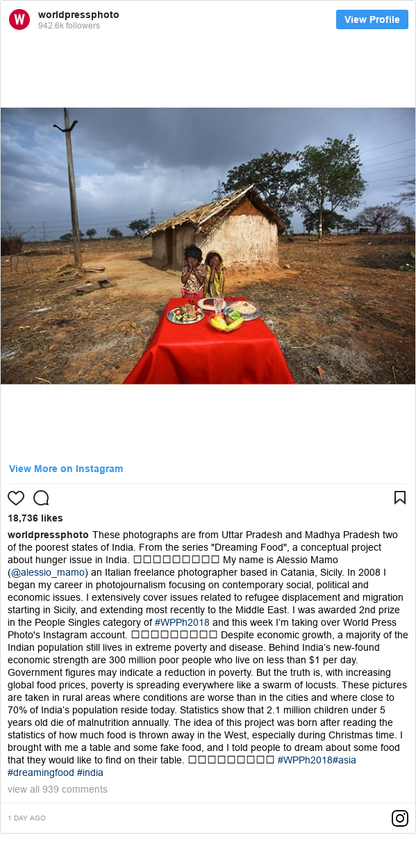 Instagram post by worldpressphoto: These photographs are from Uttar Pradesh and Madhya Pradesh two of the poorest states of India. From the series