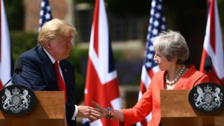 President Trump and Prime Minister Theresa May hold a joint press conference at Chequers