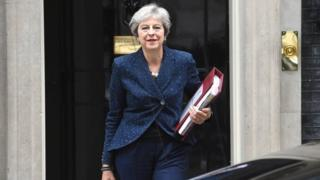 Theresa May leaves Downing st
