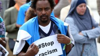 Anti-racism and anti-Islamaphobia march in Belgium, on 9 September, 2018