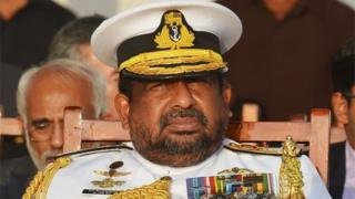 In this file photo taken on August 29, 2018 Sri Lankan Admiral Ravindra Wijegunaratne, Chief of the Defence Staff, attends a ceremony commissioning naval patrol boats in Colombo.