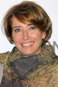 Emma Thompson looks great with a jaw-length rounded cut. The side-sweeping fringe is a great extra