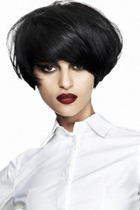 Short rounded style by Rae Palmer is ideally for thicker hair types