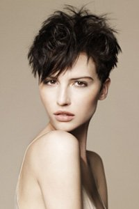 Soft spiky brunette crop by Ken Picton
