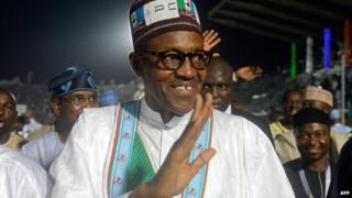 Nigeria's former military ruler and presidential aspirant of the opposition All Progressives Congress (APC) Muhammadu Buhari - December 2014