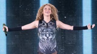 Shakira performing in New York City earlier this year