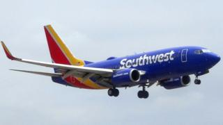 A Southwest Airlines Boeing 737, 24 May 2018
