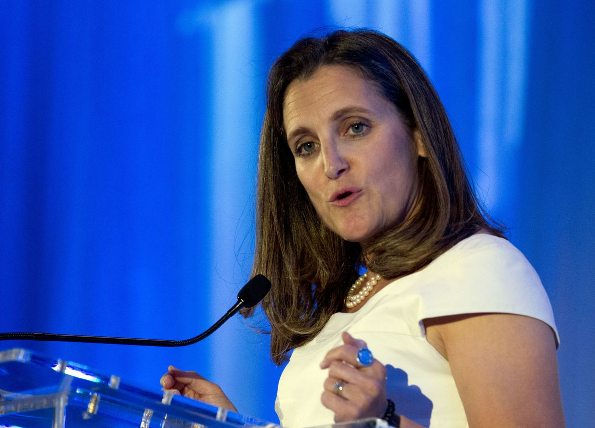 Freeland warns Trump 's tariffs are a part of world attack on international order - The Globe and Mail