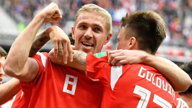 Global Cup 2018: Russia thrash Saudi Arabia 5-ZERO in match opener Rankings, Results & Fixtures
