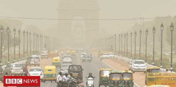 India Delhi residents choke as mud blankets capital