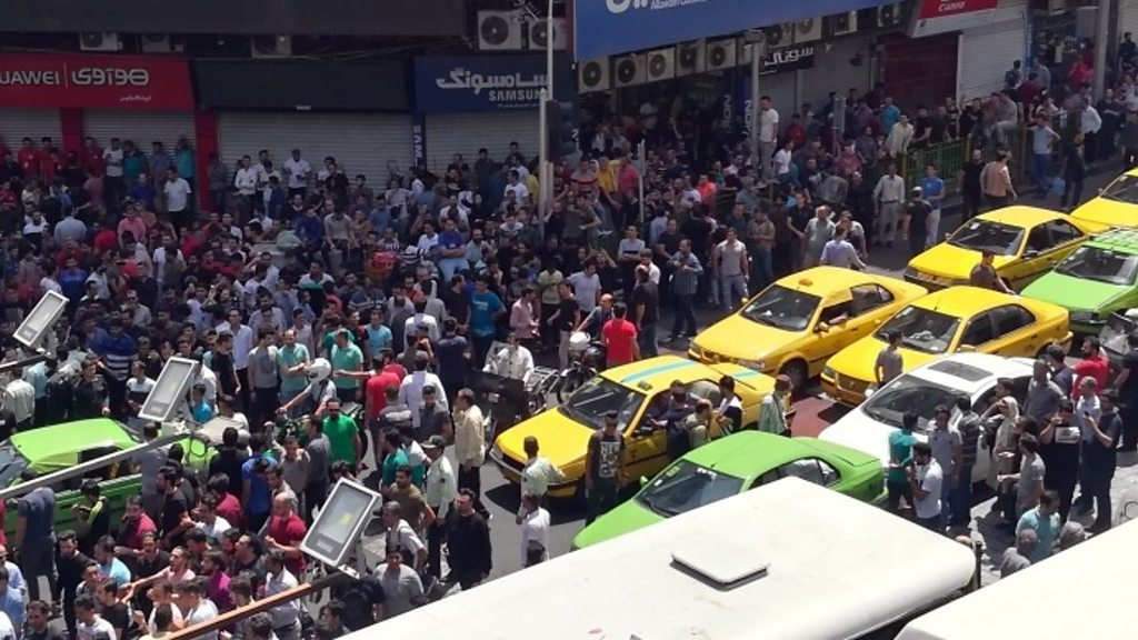 Iran financial protests close Tehran's Grand Bazaar