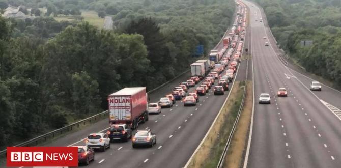 Lady dies in M4 automobile crash between Porthcawl and Margam