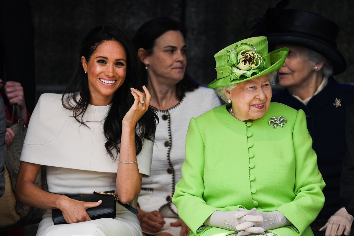 Queen, Meghan cheered through crowds on first joint royal trip - The Globe and Mail