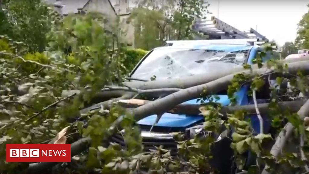 Shuttle disruption as Typhoon Hector sweeps throughout Scotland