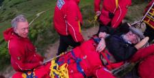 Yorkshire pensioner carried up to summit through rescue staff