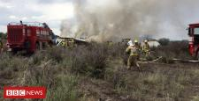 Airliner crashes in Durango after take-off in Mexico