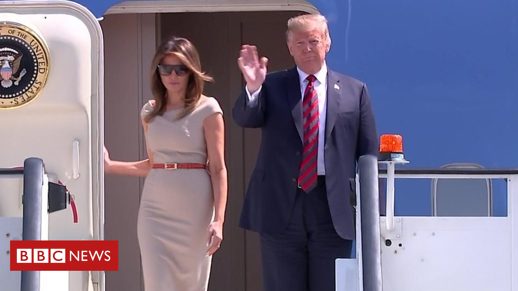 Donald Trump arrives in UK for 2-day operating visit