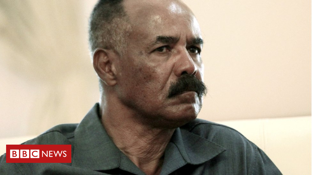 Eritrea's Isaias Afwerki in historical Ethiopia discuss with