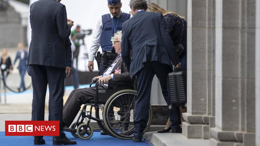 EU's Jean-Claude Juncker filmed stumbling at Nato adventure