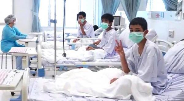 First photographs emerge of boys rescued from Thailand cave