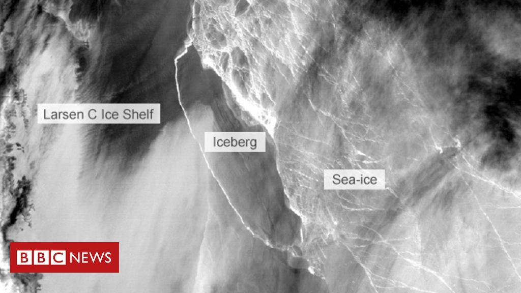 Massive iceberg splits from Antarctic