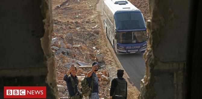 Syria warfare: Besieged towns of Foah and Kefraya evacuated