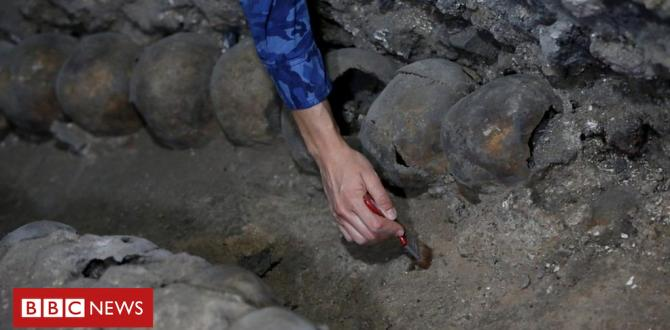 Uncovering the Aztec tower of skulls in Mexico City
