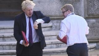 Boris Johnson outside the Foreign Office last month