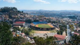 View of the Stade Municipal de Mahamasina in Antananarivo, the capital city of Madagascar