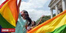 Joy in India after landmark ruling legalises gay sex