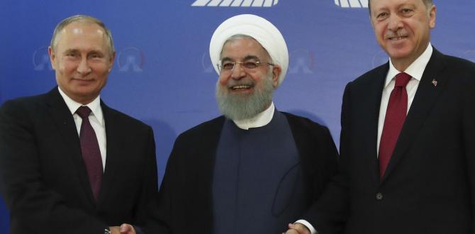 The Latest: Iran, Russia, Turkey presidents meet in summit
