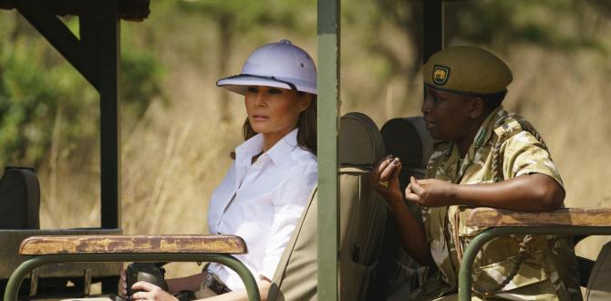 Melania Trump, first lady, blasted by media for wearing 'colonial' white pith helmet on Kenya safari