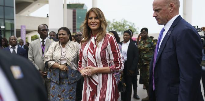 Melania Trump visits ex-slave holding facility in Ghana