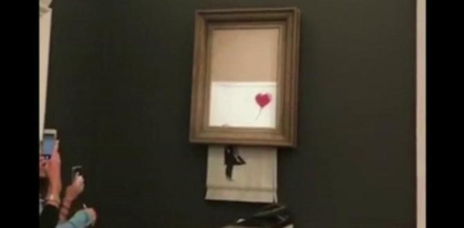 Banksy posts video of £1m portray shredding stunt at Sotheby's
